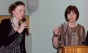 Jenny Miller of Care Voice pictured with Claire Cairns of Coalition of Carers