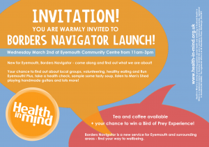 Flyer about Borders Navigator event